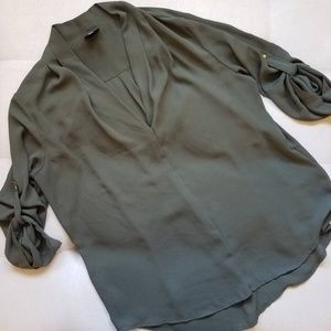 Mossimo Olive Blouse Size XXL